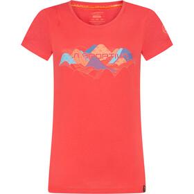 La Sportiva Hills T-Shirt Dames, hibiscus